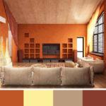 K přírodním odstínům a dřevu je oranžová příjemným doplňkem.