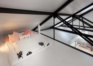 Vzhled horního patra je inspirován japonským minimalizmem