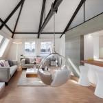 Houpačka kromě relaxace vytváří příjemný estetický prvek v interiéru