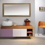 Keramické umyvadlo postavené na nábytkové skříňce, kolekce Next, Le Bon