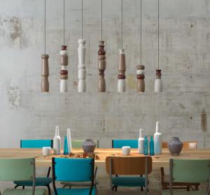Světla nad jídelní stůl zavěšte tak, aby osvětlovala celou plochu