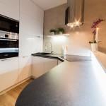 V moderně vybavené kuchyni je dostatek úložného prostoru
