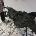 Dřevěná lavice opět mořená do černa