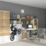 Studentský pokoj s dvířky s motorkářem, Trachea