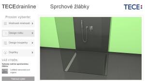 On-line konfigurátor pro sprchové žlaby