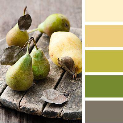 Šedé odstíny harmonicky propojené skombinací se zelenou a krémově žlutou navozují klidnou atmosféru. Budí dojem prostorného pohodlného interiéru a proto je vhodná i do menších kuchyní snedostatkem denního světla.