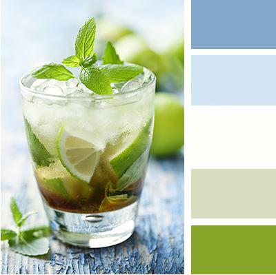 Tato kombinace barev evokuje svěžest máty a ledových chlad, který vás vparném létě příjemně ochladí. Vaše kuchyň bude příjemným a prostorným místem.
