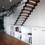Linie schodiště vytváří v prostoru zajímavý estetický prvek.