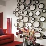 Stejný tvar a různé velikosti. Uspořádáním do mozaiky získáme zajímavou dekoraci.