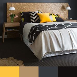 Žluto-šedá kombinace