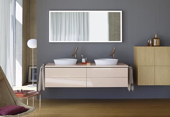 Koupelnová skříňka se dvěma umyvadly, kolekce L Cube, Duravit