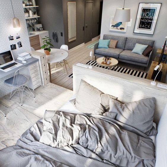 I v jednom pokoji můžeme velmi jednoduše vymezit jednotlivé zóny.
