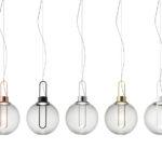 Dekorativní svítidla, vhodná ve větším množství instalovat nad jídelní stůl. ORB, Modo Luce