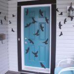 Havrani na dveřích, dekorace Halloween