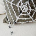 Polštář s motivem pavučiny, dekorace na Halloween