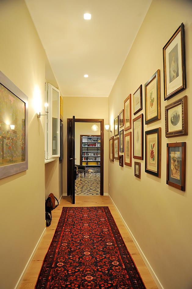 Už od vstupu do bytu je cítit příjemná domácí atmosféra.
