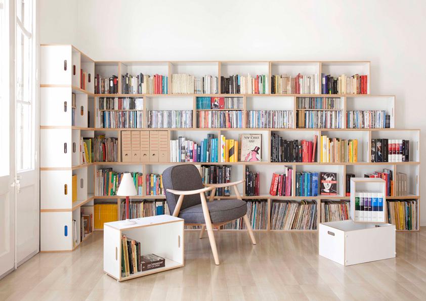 Knihovna z přepravek