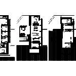 Půdorysy jednotlivých pater, zdroj: Grondal Architecture