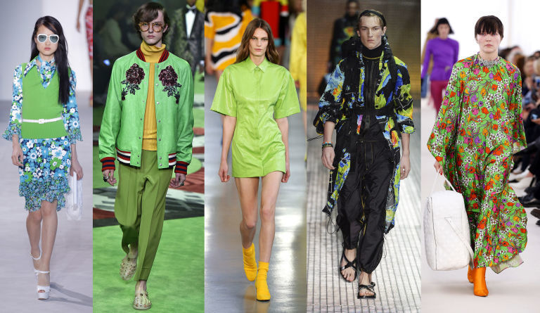 Pantone 15-0343 Greenery se promítá i do módního odvětví.