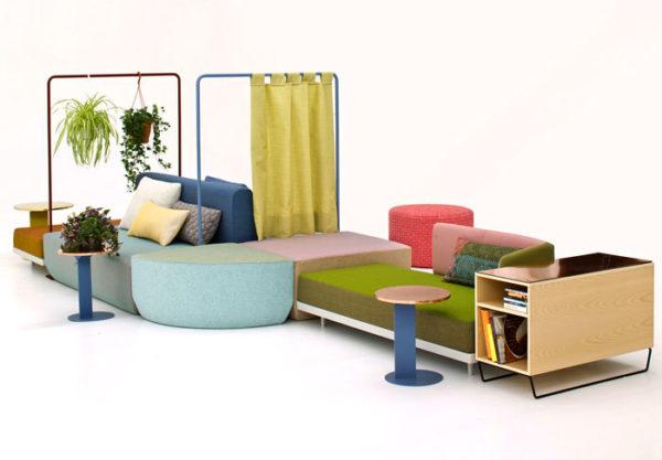 Variabilní nábytek umožňuje reagovat uspořádáním na jakoukoliv životní potřebu.