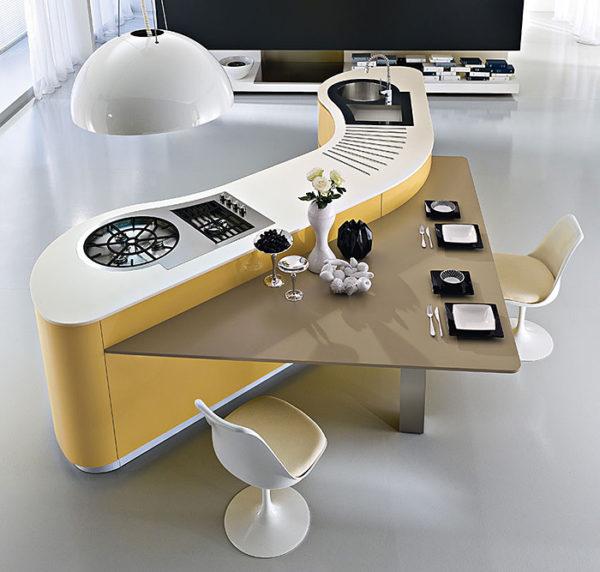 Energie kolem organických tvarů plynule proudí, což je příjemné pro celkovou atmosféru místnosti.
