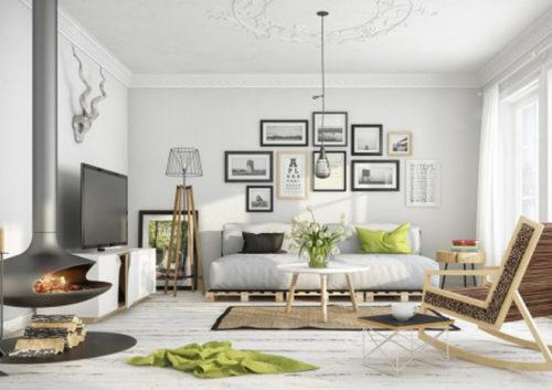 Nejste-li příznivci zelené, ale chcete mít svůj domov trendy, můžete ji použít jen na doplňcích.