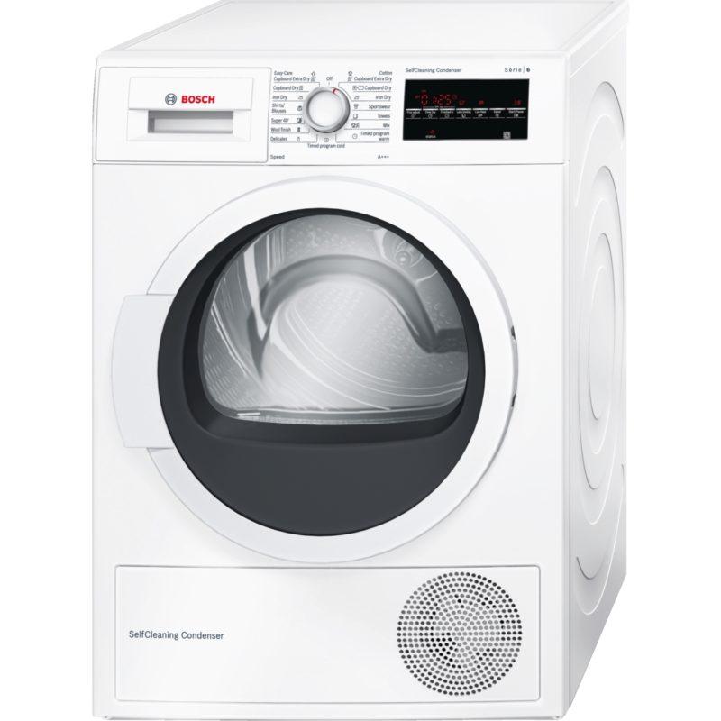 Úsporná sušička Bosch v energetické třídě A+++ na 7 kg prádla. Samočistící kondenzátor, AntiVibration Design, technologie AutoDry. Cena 19 990 Kč, Euronics.