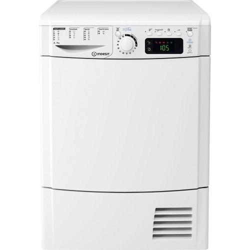 Volně stojící kondenzační sušička Indesit EDPE G45 A ECO (EU) s kapacitou sušení až 8 kg prádla. 16 sušicích programů, energetická třída A. Cena 8 990 Kč, Okay.