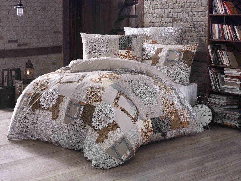 Bavlněné povlečení Lace, rozměr polštáře 70 x 90 cm, rozměr peřiny 140 x 200 cm, cena 599 Kč.