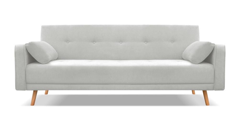 Světle šedá rozkládací pohovka pro čtyři Cosmopolitan, design Stuttgart, rozměr 212 x 113 x 85 cm, rozměr lůžka 115 x 190 cm, cena 15 999 Kč.