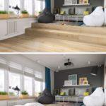 Zvýšená patra jsou oblíbeným prvkem v malých místnostech.