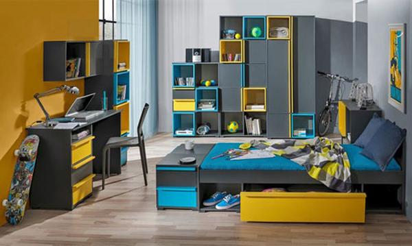Sestava do dětského pokoje Cubbico nabízí řadu jednotlivých modulů, ze kterých je možné sestavit dítěti pokojíček dle individuálních potřeb.