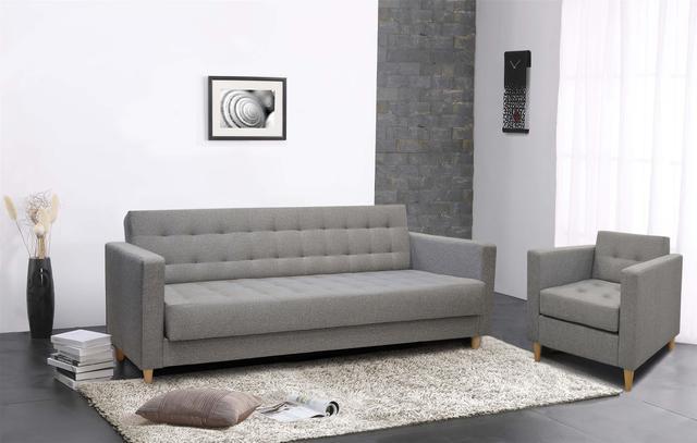Rozkládací pohovka Andy s prvky skandinávského designu, rozměr 208 x 82 x 88 cm, rozměr lůžka 122 x 190 cm, cena 6 999 Kč.