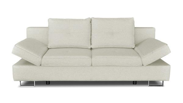 Bílá dvojmístná rozkládací pohovka Windsor & Co. Sofas Iota s úložným prostorem. Rozměr 210 x 86 x 100 cm, rozměr lůžka 205 x 150 cm.