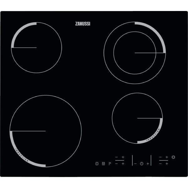 Varná deska Zanussi Avanti ZEN6641FBA s kombinací sálavých a indukčních zón, indikátor zbytku tepla, dětská pojistka. Cena 7 490 Kč.