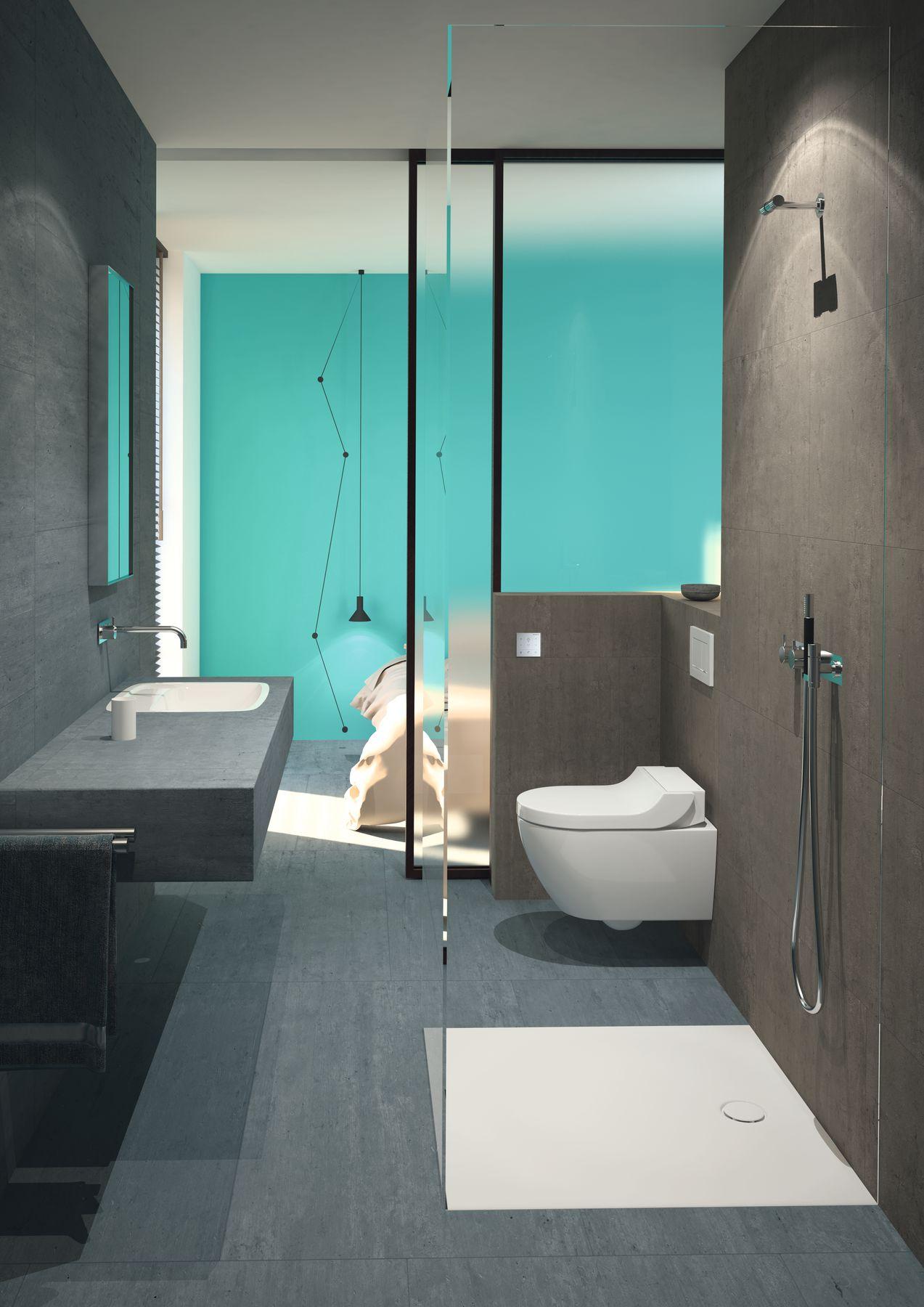 Chytrý produktový koncept. Toaleta Geberit AquaClean Tuma s integrovanou sprchou umožňuje optimální využití prostoru a může být nainstalována bez větších stavebních úprav.