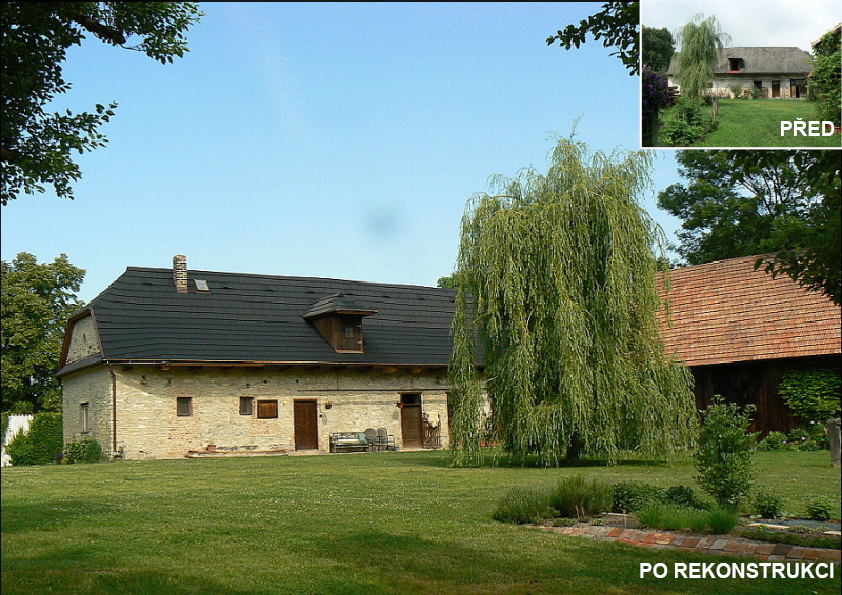 Zrekonstruován byly i chlévy a stodoly.