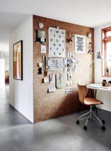 korek můžete nalepit i na stěnu. Získáte velkorysou nástěnku.