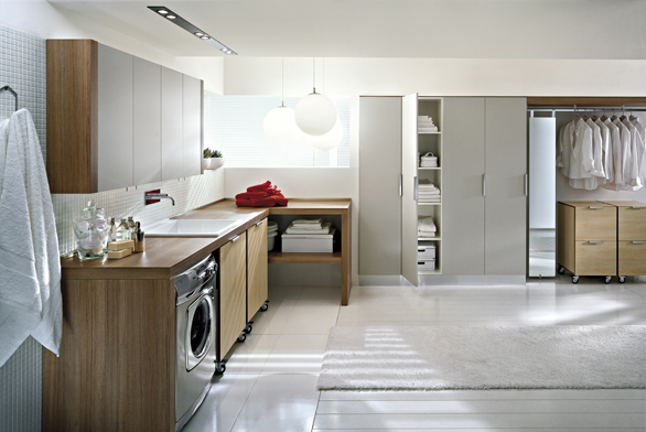 V prostorných domech se vyplatí jednu z místností obětovat pro domácí práce.