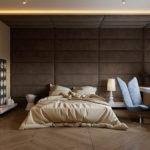 Obložení stěny může plynule přecházet až na strop.