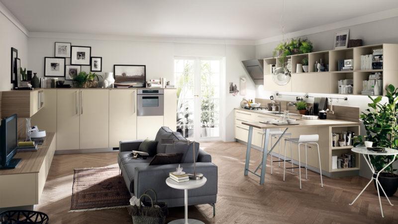 Pokud se nevejde stůl, může postačit jen menší stolek navazující na kuchyni.