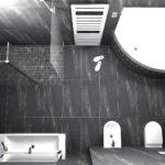 14. místo, návrh Michal Libosvár, Lamer koupelny, Ostrava. Koupelna s radiátorem Zehnder Metropolitan Spa, bílá RAL 9016