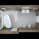 6. místo, návrh Adam Kotek, Koupelny Ptáček, Praha 4. Koupelna s radiátorem Zehnder Metropolitan Spa, bílá RAL 9016