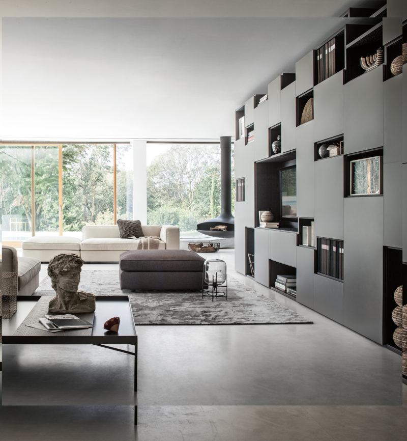 Další z možností, jak získat nenásilný úložný prvek v obývacím pokoji