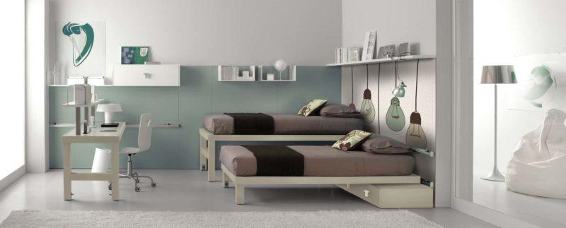Další z možností do malých pokojů je výsuvné lůžko.