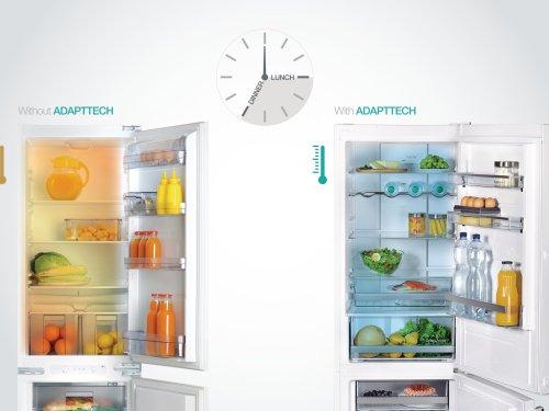 Funkce AdaptTech udržuje uvnitř stabilní prostředí i přesto, že je narušeno závanem teplého vzduchu z venku.