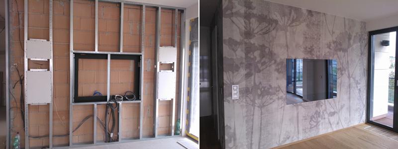 Při instalací a po instalaci. Neviditelné reproduktory je možné instalovat do sádrokartonové stěny/stropu a poté přelepit tapetou.