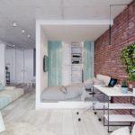Je-li místnost větší, pak snese i toto méně tradiční řešení