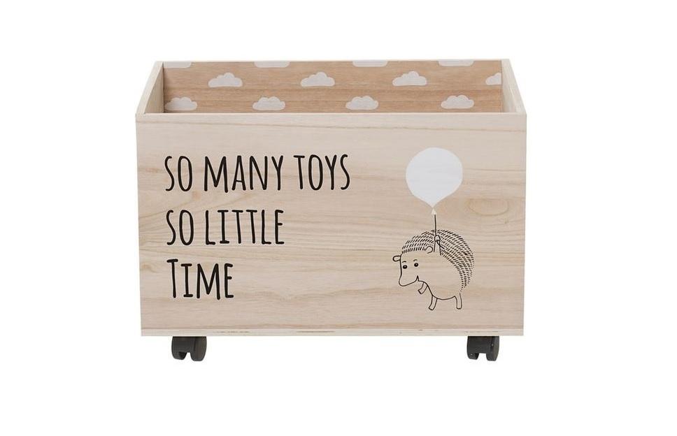 Kolečka pomohou přesunout i těžší hračky
