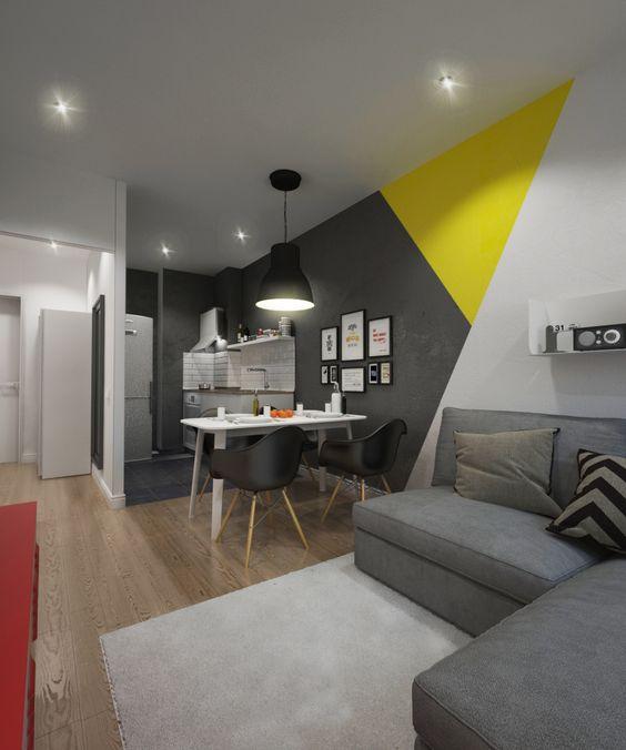 Geometrickým tvarem a navíc ještě barevně rozlišeným rozhodně rozbijete monotonnost interiéru